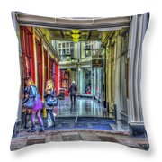 High Street Arcade Cardiff Throw Pillow