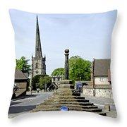 High Street To Willington Road - Repton Throw Pillow