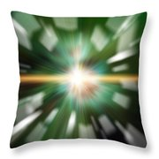 High Tech Style Exploding Background Image Throw Pillow
