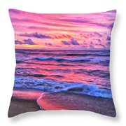High Tide At San Onofre Throw Pillow