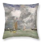 High Tide At Trouville Throw Pillow