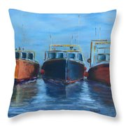High Tide Breton Harbor Throw Pillow