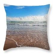 High Tide In South Padre  Throw Pillow