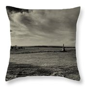 High Tide Of The Confederacy Black And White Throw Pillow
