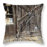 High-wheel Throw Pillow