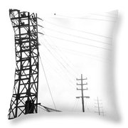 High Wire Suicide Rescue Throw Pillow