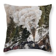 Highball Through Cascade Canyon Throw Pillow