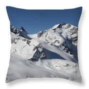 Highest Peak St Mortiz Throw Pillow