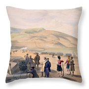 Highland Brigade Camp, Plate From The Throw Pillow
