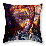 Highland Huntress Throw Pillow