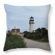 Highland Light Aka Cape Cod Light Throw Pillow