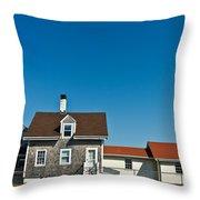 Highland Lighthouse Or Cape Cod Lighthouse Throw Pillow