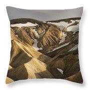 Highlands Fjallabak Nature Reserve Throw Pillow