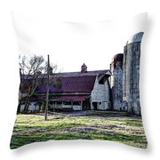 Highway 11 Barn Throw Pillow