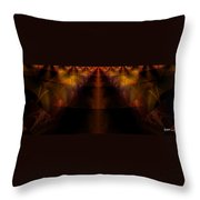 Highway Less Traveled Throw Pillow