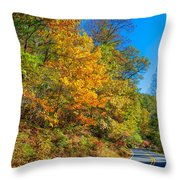 Highway Of Brilliance Throw Pillow
