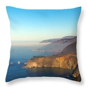Highway One Bixby Bridge Throw Pillow by Barbara Snyder