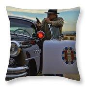 Highway Patrol 6 Throw Pillow