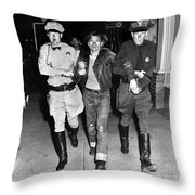 Highway Patrolmen And Police Officer Hollister July 7 1947 Throw Pillow