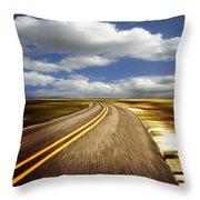 Highway Run Throw Pillow