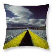 Highway Through Death Valley Throw Pillow
