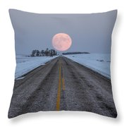 Highway To The Moon Throw Pillow