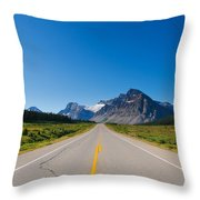 Highway To The Mountains Throw Pillow