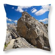 hike in Dolomites Throw Pillow