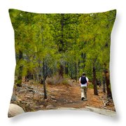 Hike On 2 Throw Pillow