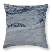 Hikers On The Floor Of The Klauea Iki Throw Pillow