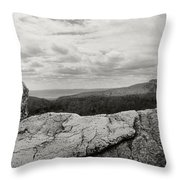 Hikers Standing On The Rocks, Gertrudes Throw Pillow