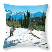 Hiking In Spring In Revelstoke National Park-british Columbia  Throw Pillow