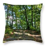 Hiking In Virginia Kendall Throw Pillow by Kristin Elmquist