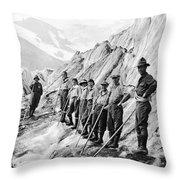Hiking Up Mt. Rainier Throw Pillow
