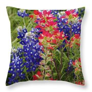 Hill Country Bloom Throw Pillow