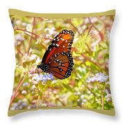 Hill Country Butterfly Throw Pillow