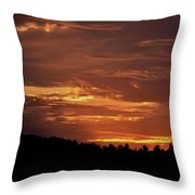 Hill Country Sunrise Throw Pillow