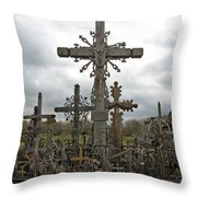 Hill Of Crosses 06. Lithuania.  Throw Pillow