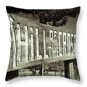 Hill Of The Cross Throw Pillow