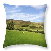 Hill Range North Of Edale Throw Pillow