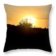 Hill Top Sunrise 2013 Throw Pillow