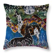 Hills Alive With Llamas Throw Pillow