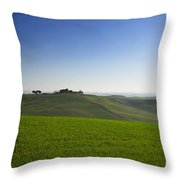 Hills On The Field Throw Pillow