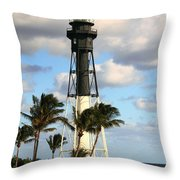 Hillsboro Inlet Lighthouse Throw Pillow