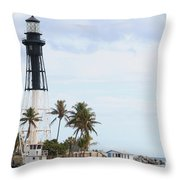 Hillsboro Lighthouse In Florida Throw Pillow