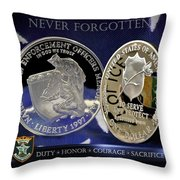 Hillsborough County Sheriff Memorial Throw Pillow by Gary Yost