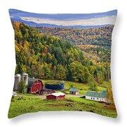 Hillside Acres Farm Throw Pillow