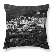 Hillside Amalfi Coast Throw Pillow