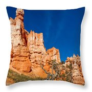 Hillside Carvings Throw Pillow