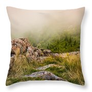 Hillside Haze Throw Pillow